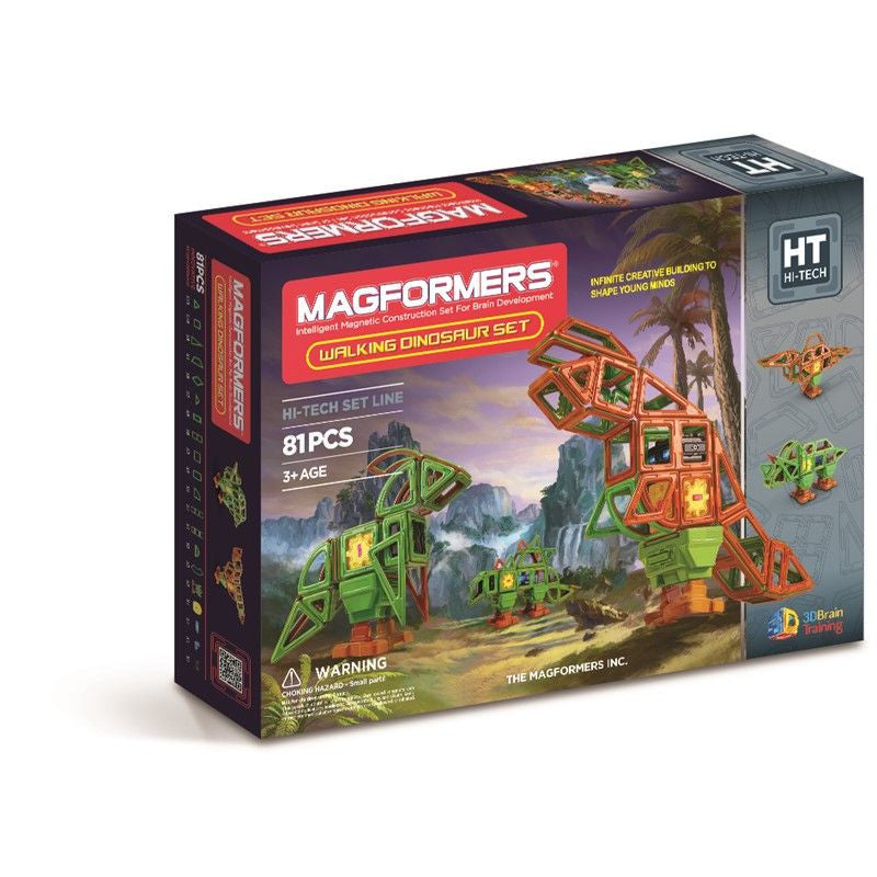 Magformers 81 Pieces Walking Dinosaur Set