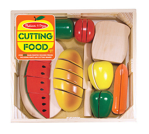 Melissa & Doug 10487 Wooden Cutting Play Food Set