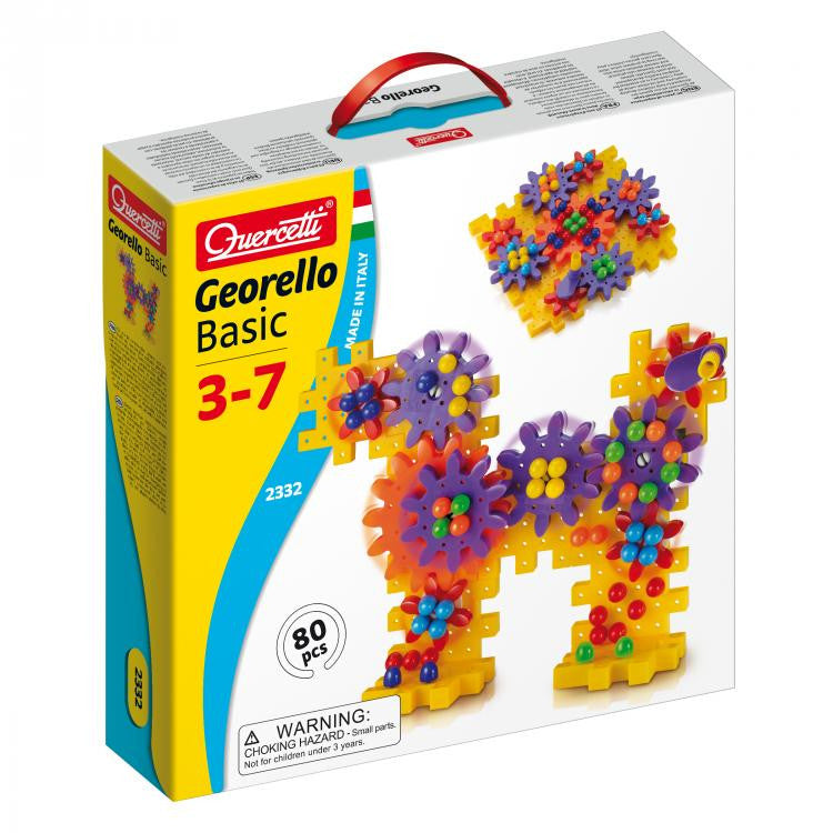 Quercetti - 2332 | Georello Basic Gears-Go-Round (80 Pieces)