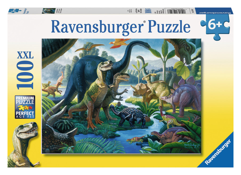 Ravensburger 100 Pieces Puzzle Land Of The Dinosaurs - 10740