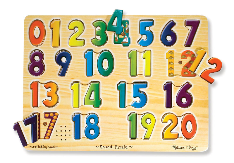 Melissa & Doug 20339 Numbers And Sound Puzzle