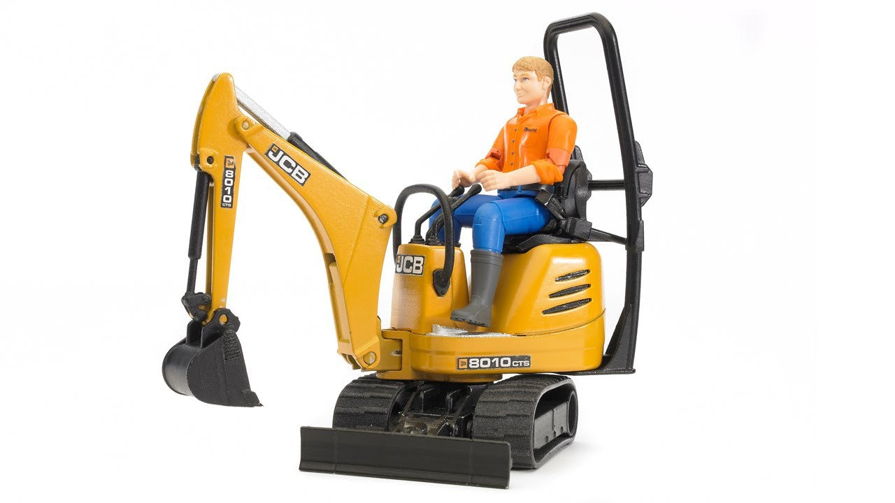 Bruder JCB Micro Excavator 8010 CTS With Construction Worker