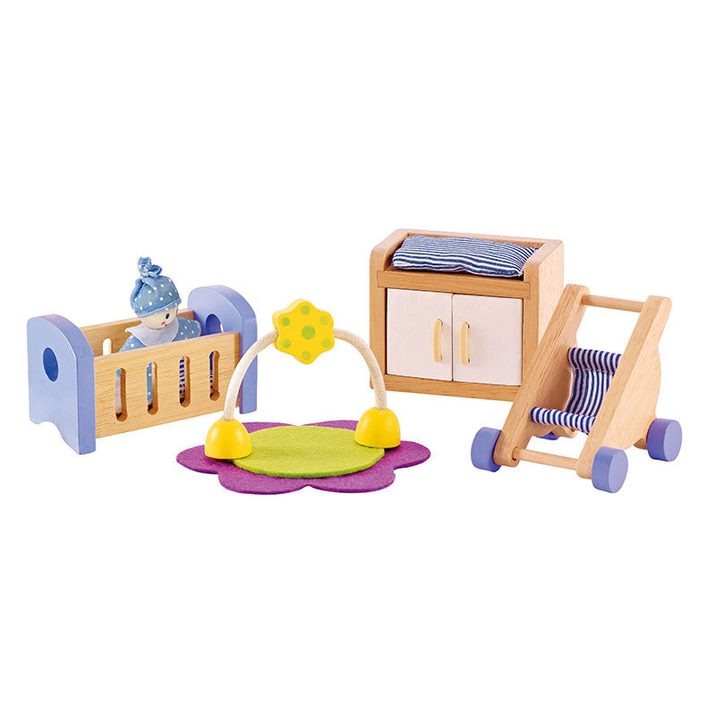 Hape Baby's Room Wood Doll Furniture - E3459