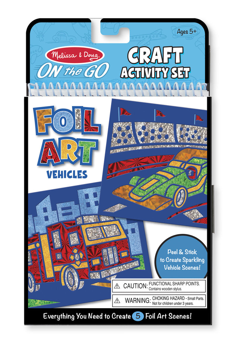 Melissa & Doug 9447 On-The-Go Crafts Foil Art Vehicles