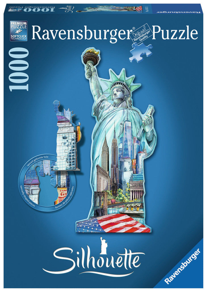 Ravensburger 1000 Pieces Puzzle Shape Statue Of Liberty - 16151