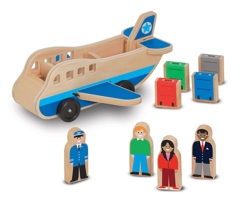 Melissa & Doug 19394 Wooden Airplane Set With Figures