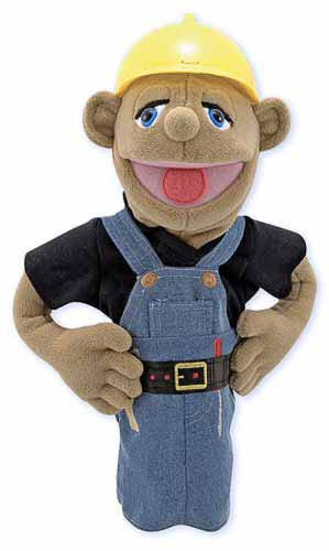 Melissa & Doug 2555 Construction Worker Puppet