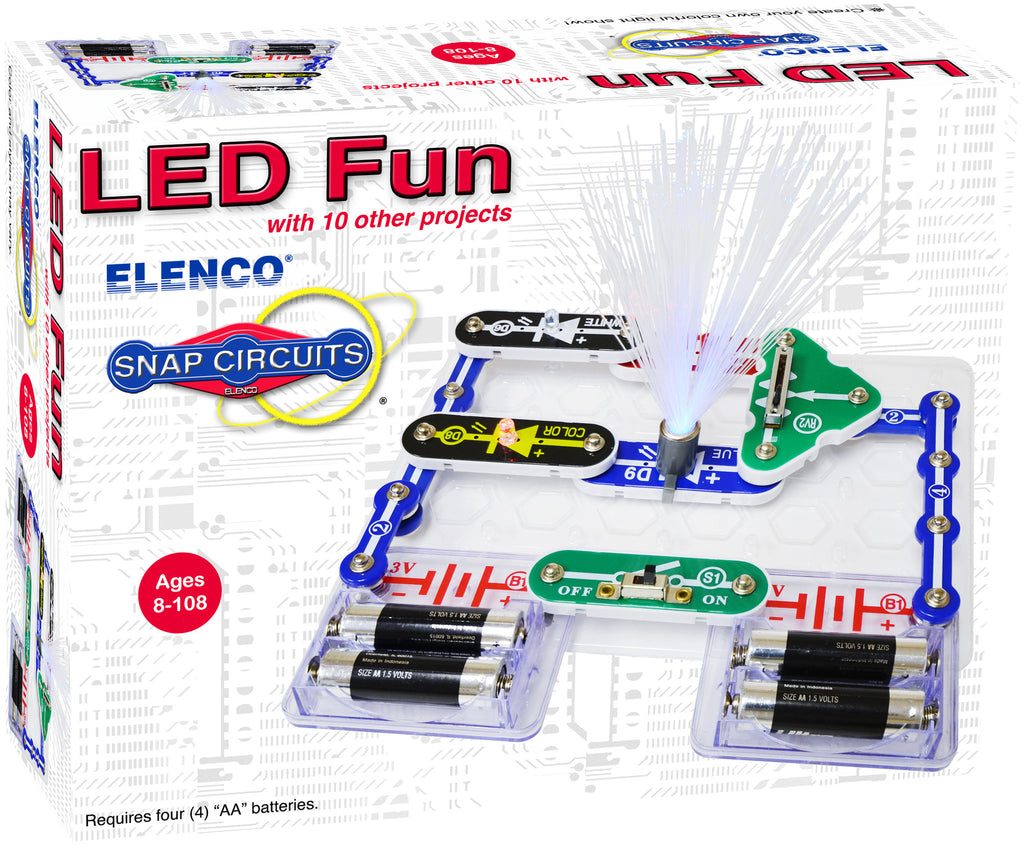 Battery Powered Toys Tagged Snap Circuits Castle Elenco Scs185 Sound Scp 11 Led Fun