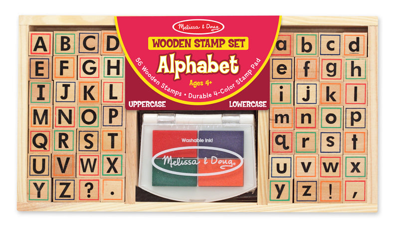 Melissa & Doug 13557 Alphabet Wooden Stamp Set