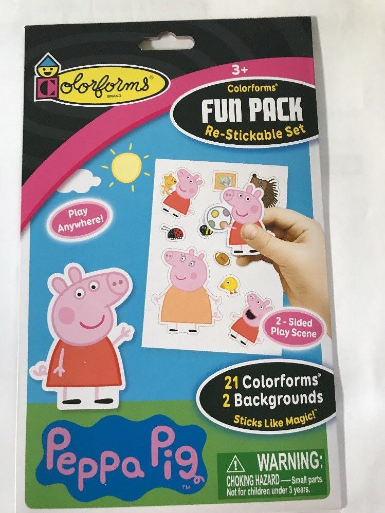 Colorforms Brand - 2983 | Fun Pack Re-Stickable Sticker Set - Peppa Pig