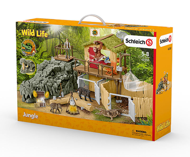 Schleich - Wildlife: Croco Jungle Research Station