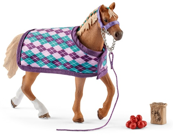 Schleich - 42360 | Horse Club: English Thoroughbred With Blanket