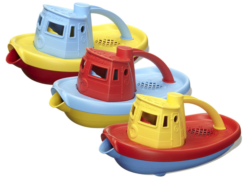 Green Toys - TUG01R-A | Tug Boat (Assorted Colors)
