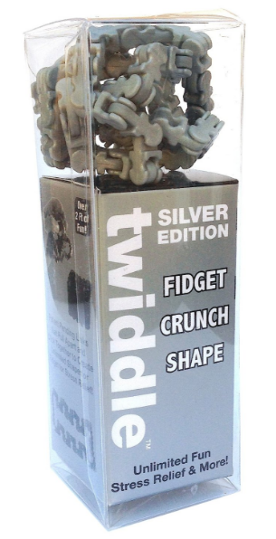 Zorbitz - Twiddle Fiddle Toy Silver Edition