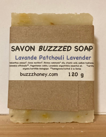 Buzzz Honey Lavender Patchouli SOAP (120g) bar