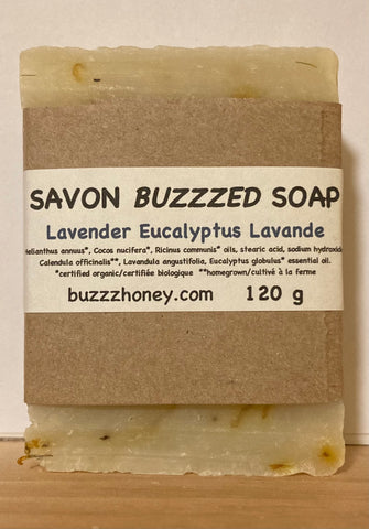 Buzzz Honey Lavender Eucalyptus SOAP (120g) bar