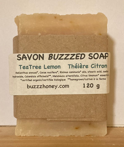 Buzzz Honey Lemon Tea Tree SOAP (120g) bar