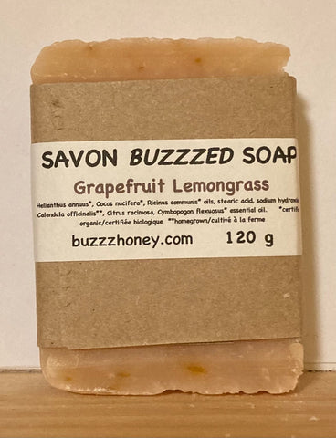 Buzzz Honey Grapefruit Lemongrass SOAP (120g) bar