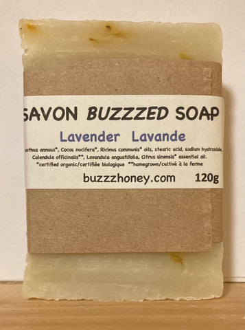 Buzzz Honey Lavender SOAP (120g) bar