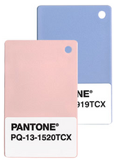Pantone's 2106 colors of the year, rose quartz and serenity