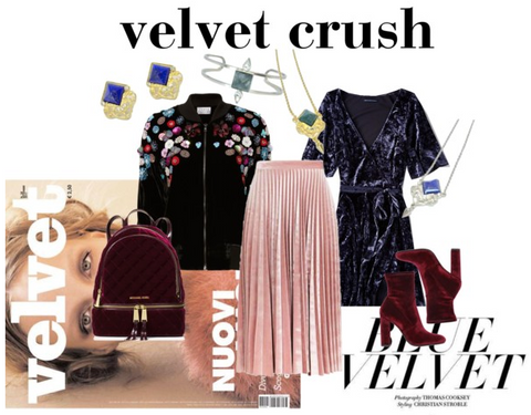 Polyvore set, fall trends, velvet, Sycamore Style, Sycamore & Amaranth