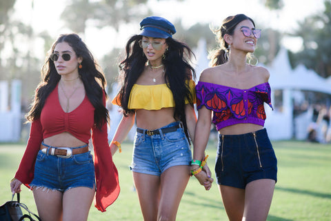 crop top squad coachella 2017 high waisted shorts summer style festival style top 10