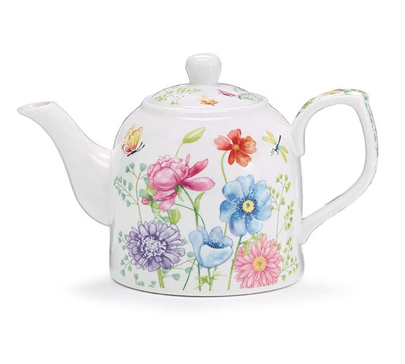 Teapot - Mixed Blooms with Greenery