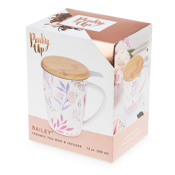 Pinky Up - Bailey Botanical Bliss Ceramic Tea Infuser Mug