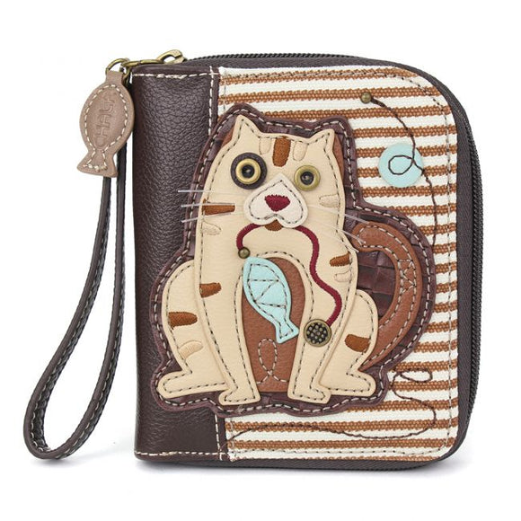 Cat Gen II Zip Around Wallet - Brown Stripe