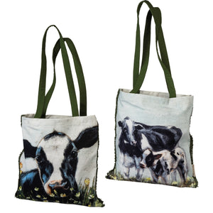 Double sided Cow Tote
