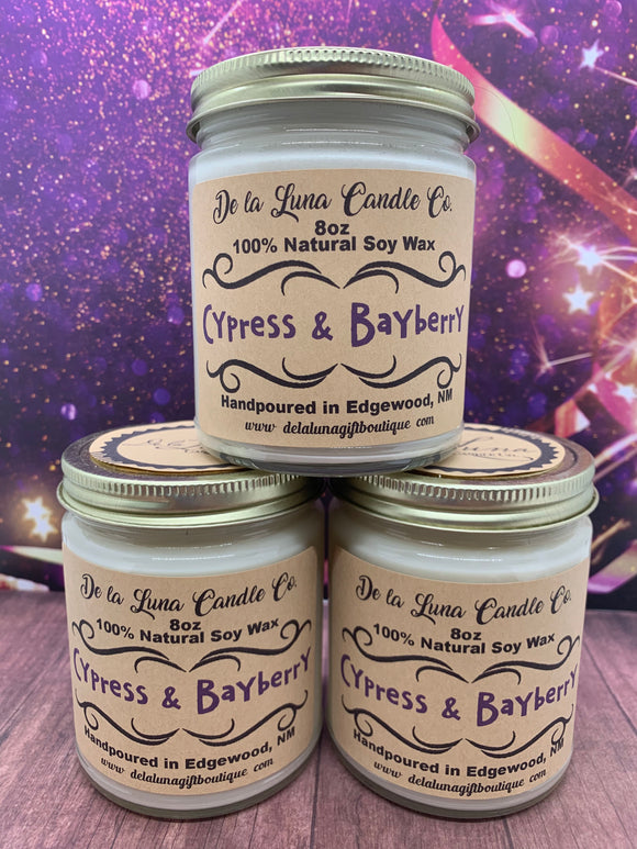 Cypress & Bayberry Soy Candle