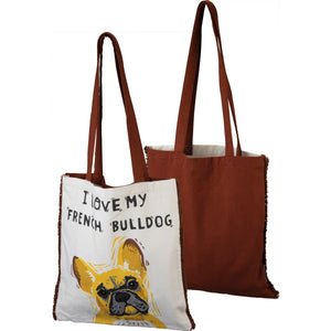 """I Love My French Bulldog"" Tote Bag"