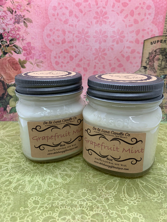 Grapefruit Mint Soy Candle
