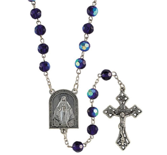 Sapphire AB Mysteries Center Rosary
