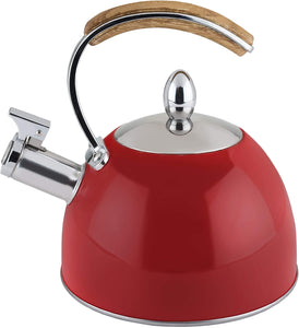 Pinky Up - Presley Red Whistling Tea Kettle