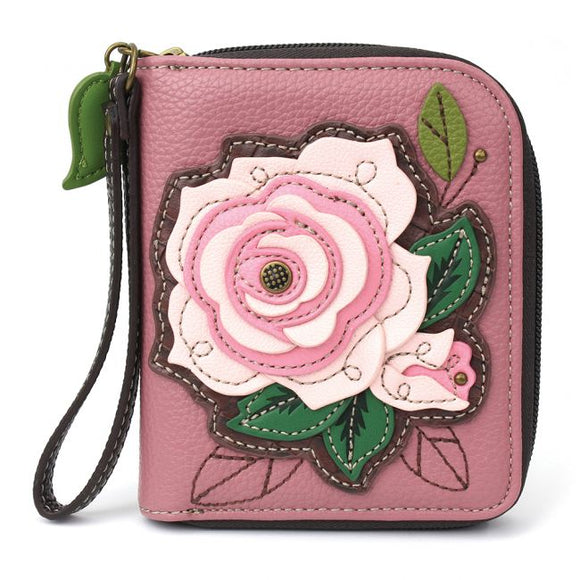Rose - Pink Zip Around Wallet
