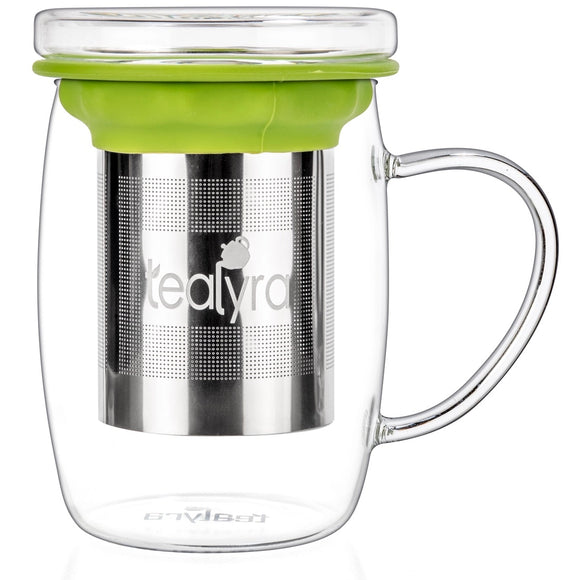 PerfecTEA Glass Mug with Stainless Steel Infuser
