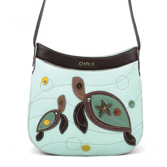 Crescent Crossbody - Two Turtles