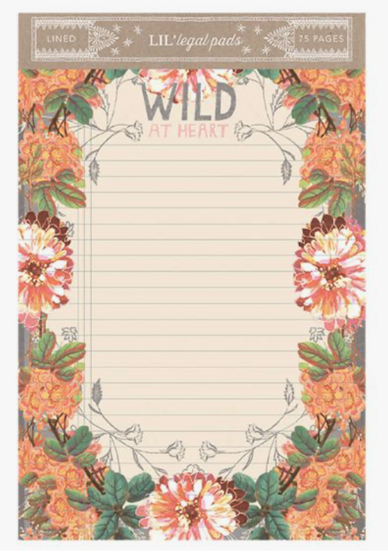 Little Legal Pad - Wild At Heart