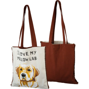 """I Love My Yellow Lab"" Tote Bags"