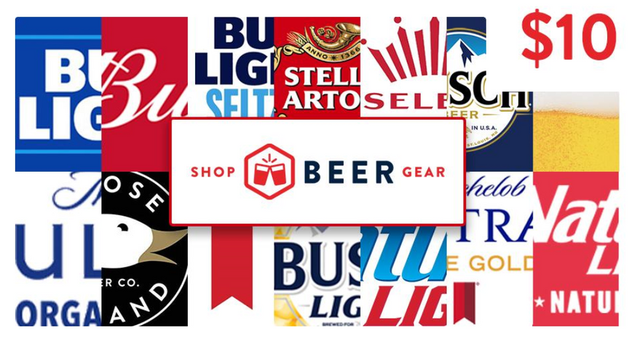 $10 Shop Beer Gear Beer Money Gift Card