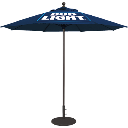 Bud Light Fabric Market Umbrella