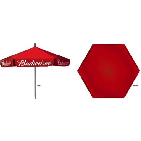 Budweiser Vinyl Patio Umbrella