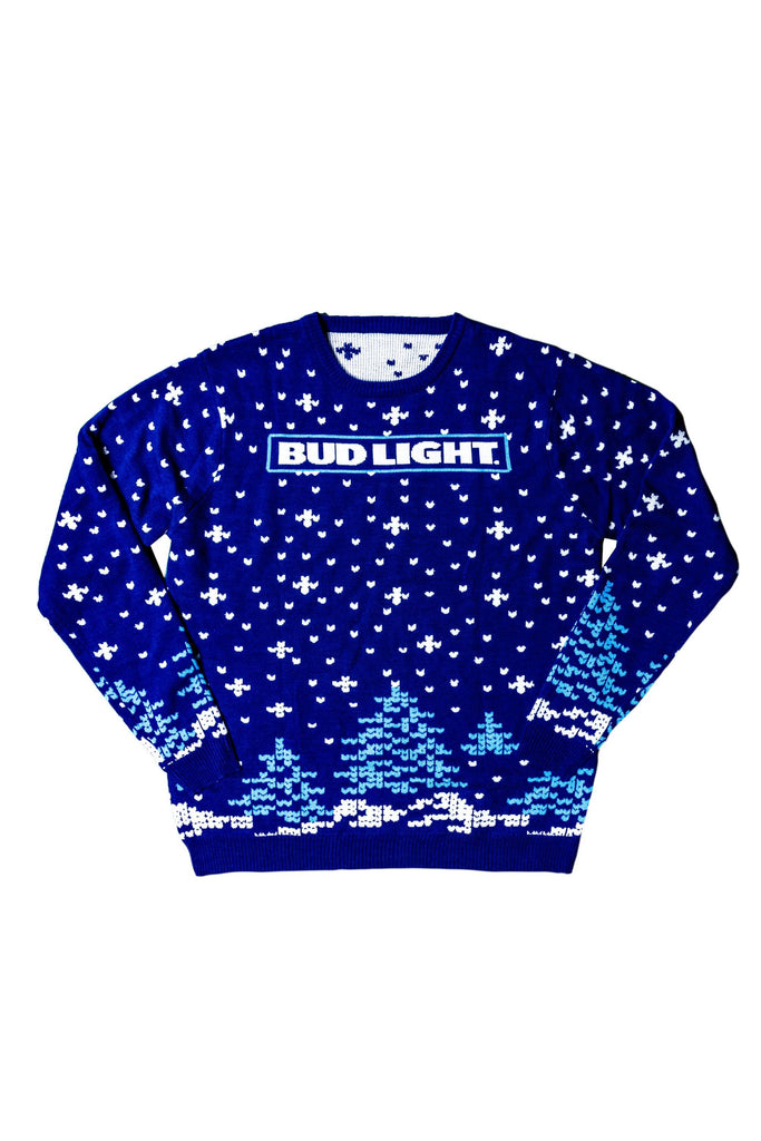 Bud Light Snowflake Sweater