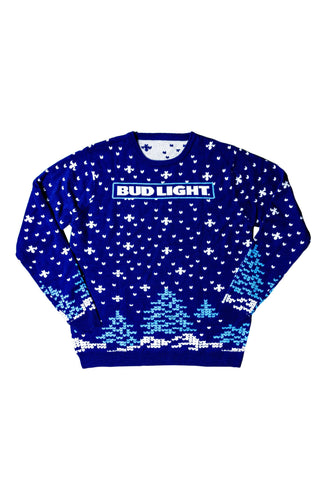 PRE-ORDER: Bud Light Snowflake Sweater