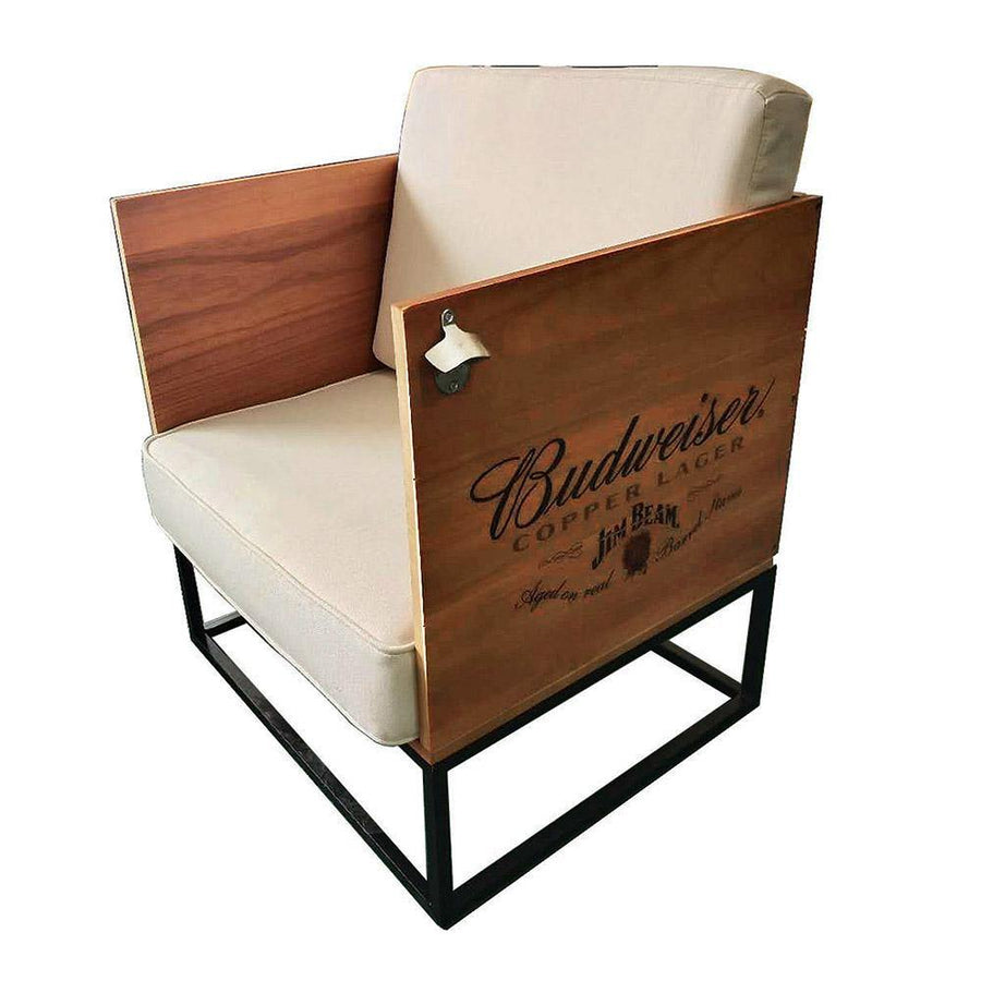 Budweiser Copper Lager Wood Crate Chair
