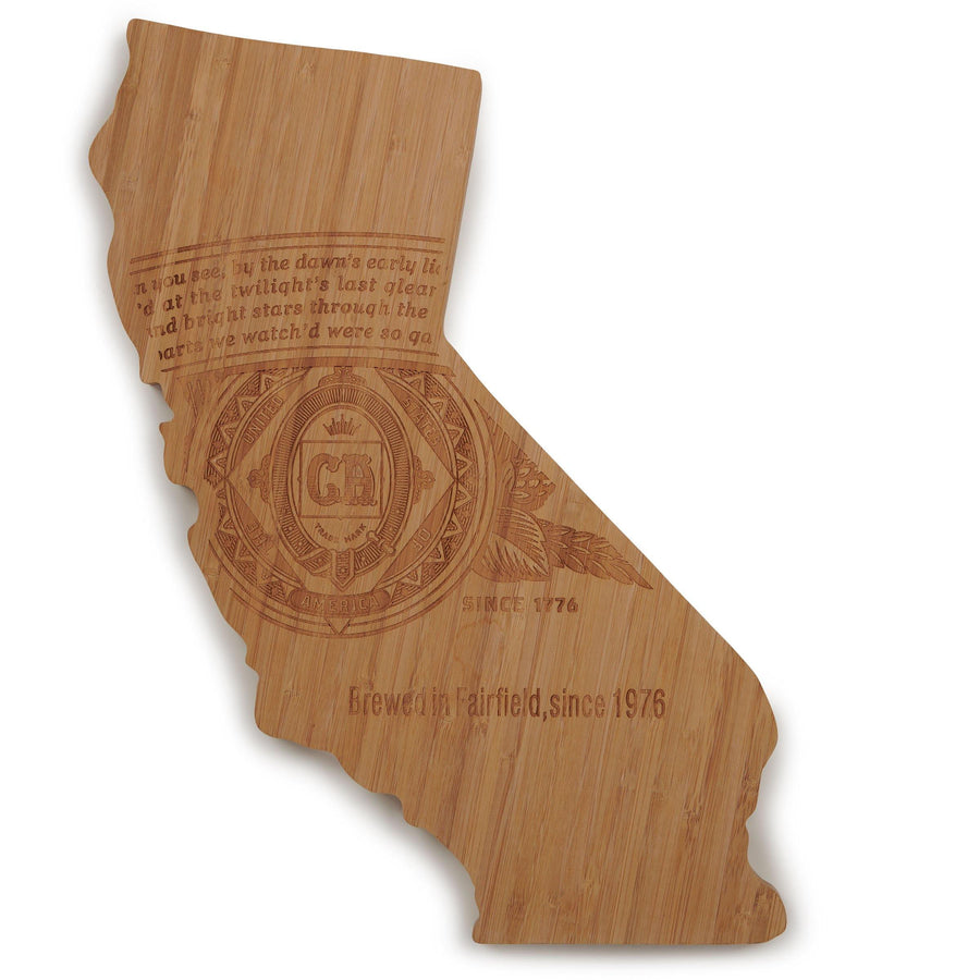 State Shaped Cutting Board- Budweiser Label