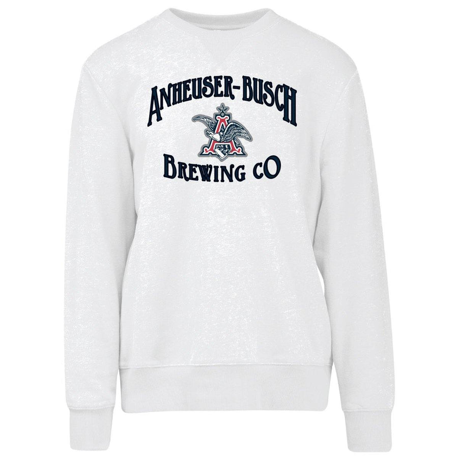 Anheuser-Busch Brewing Co. Crew Neck Sweatshirt- White