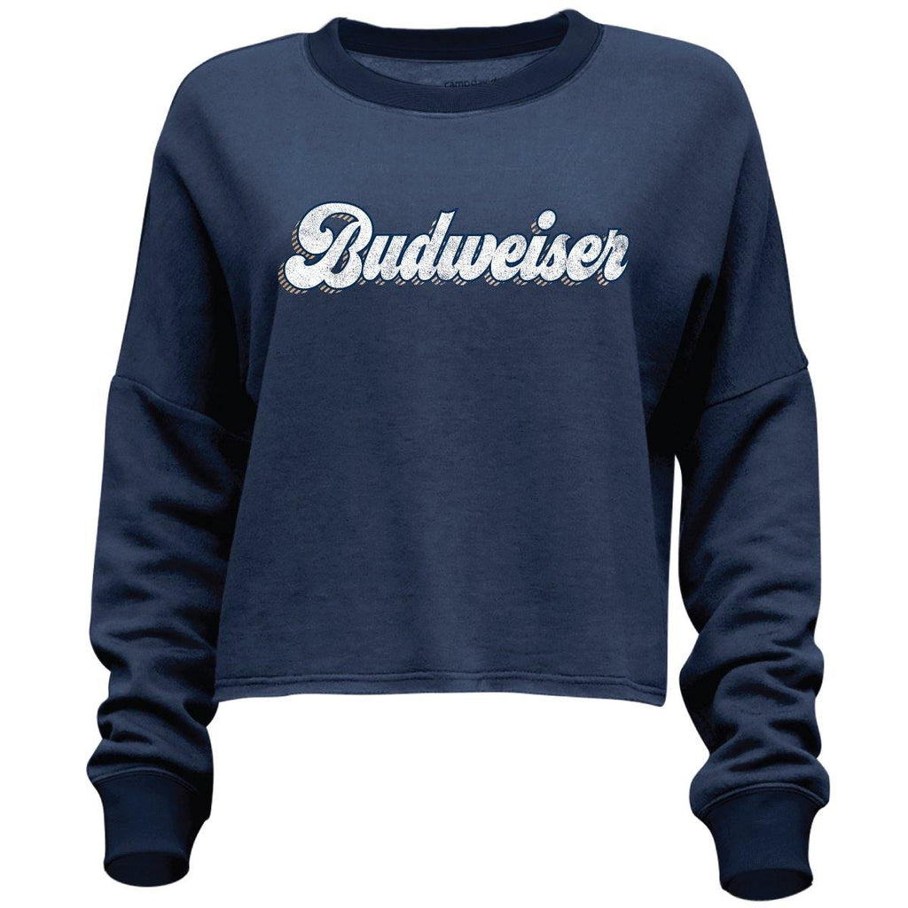 Ladies Budweiser Crop Sweatshirt