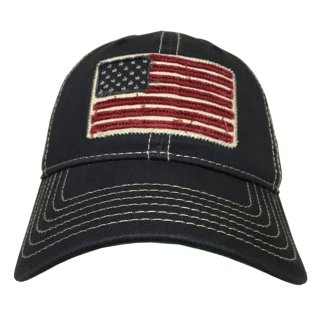 A & Eagle Flag MVP Hat- Navy